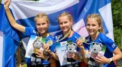 Suomen EYOC2021 W16 voittajajoukkue.